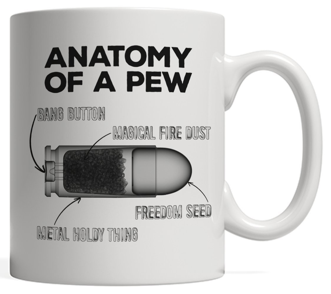 Amazon The Anatomy Of A Pew Funny Bullet Funny Cute