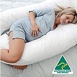 Australian Made Pregnancy/Maternity/Nursing Pillow Body Feeding Support (Pillowcase Included) (White)