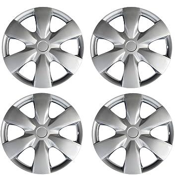 """Nuevo 4 piezas plata/lacado """"15 ABS Hub Caps Rueda Cover Set para"""