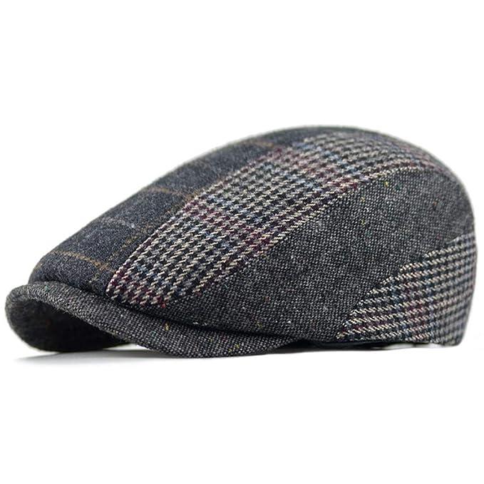 d8de7370c6d53 Clape Paperboy Snap Brim Cap Hat Ivy Cabbie Hat Wool Blend Newsboy Driving  Cap
