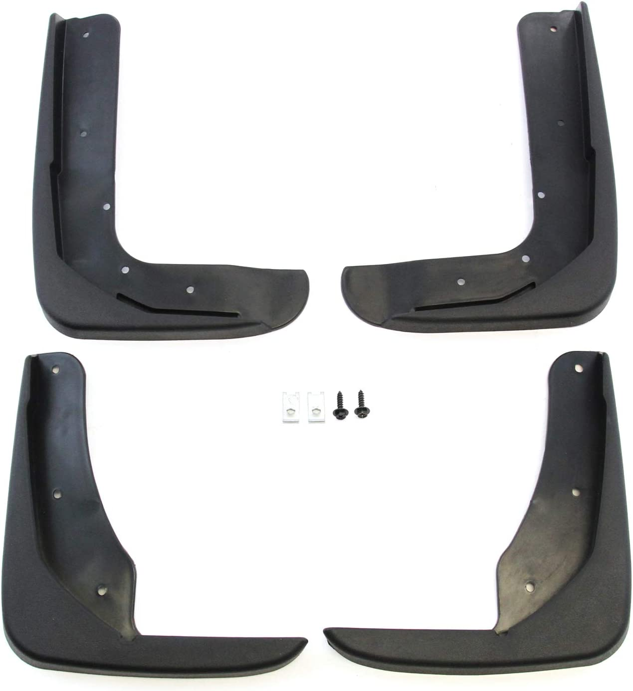 Red Hound Auto Compatible with Ford Taurus 2010-2019 Mud Flaps Splash Guards Front and Rear Molded 4pc Full Set