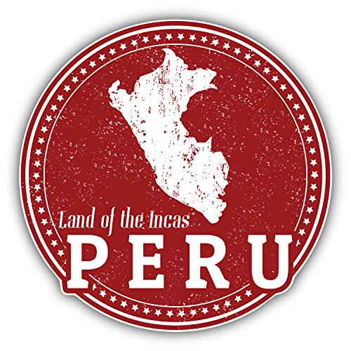 Peru Map Grunge Stamp Art Decor Bumper Sticker 5
