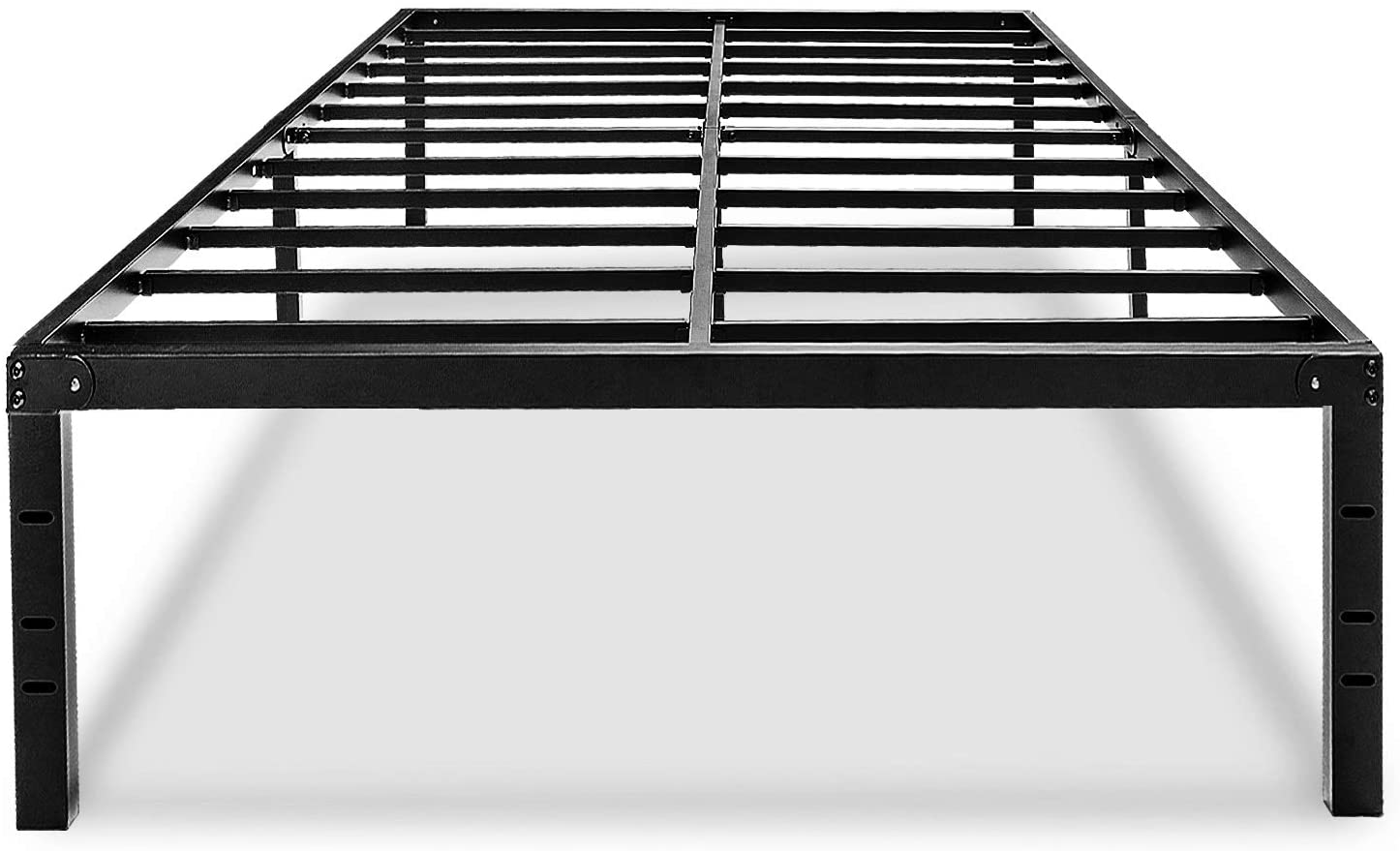 Full Size Bed Frame 18 Inch Tall Platform Bedframe No Box Spring Needed High With Storage Metal