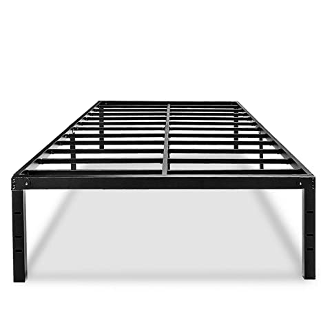 new arrival e0b81 36a35 Metal Platform King Bed Frame 18 Inch Tall No Box Spring Needed With  Storage Heavy Duty Bedframe Size