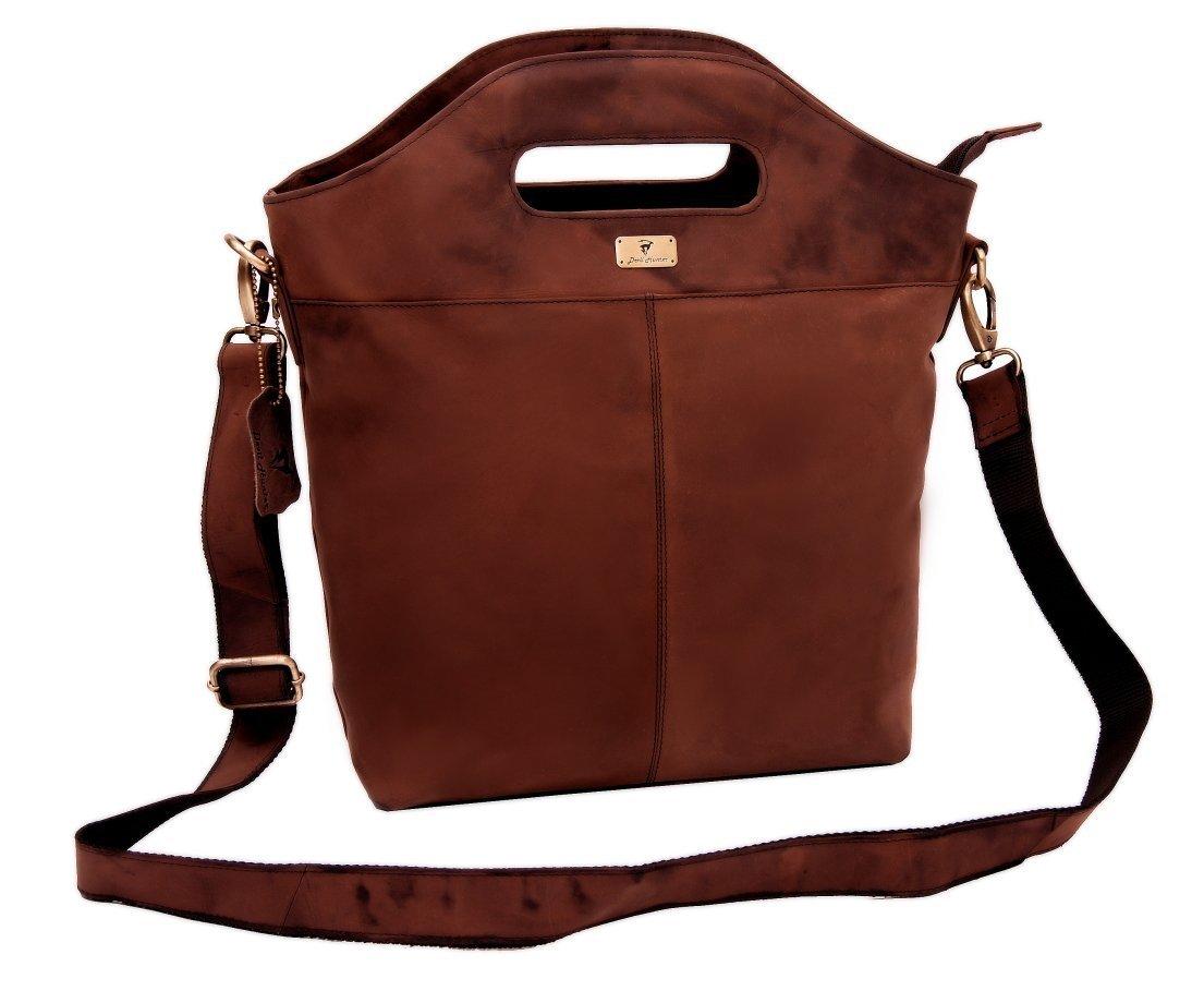 DH Genuine Soft Buffalo Leather Tote Bag Elegant Shopper Shoulder BagSALE by Devil Hunter (Image #2)