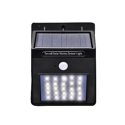 TXVSO 25 Luces solares del sensor de movimiento del LED, luces inalámbricas exteriores del sensor