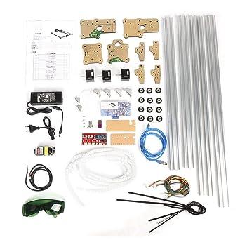 Mini máquina de grabado de 500 mW, Plotter de escritorio Kit de máquina de grabado de escritorio Voltaje 100-240VAC(EU Plug): Amazon.es: Industria, empresas y ciencia