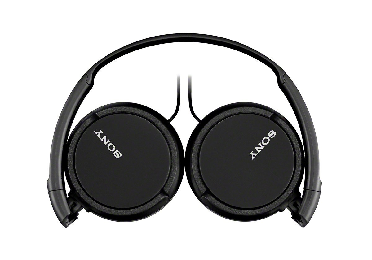 Sony MDRZX110AP ZX Series Extra Bass Smartphone Headset with Mic (Black) by Sony