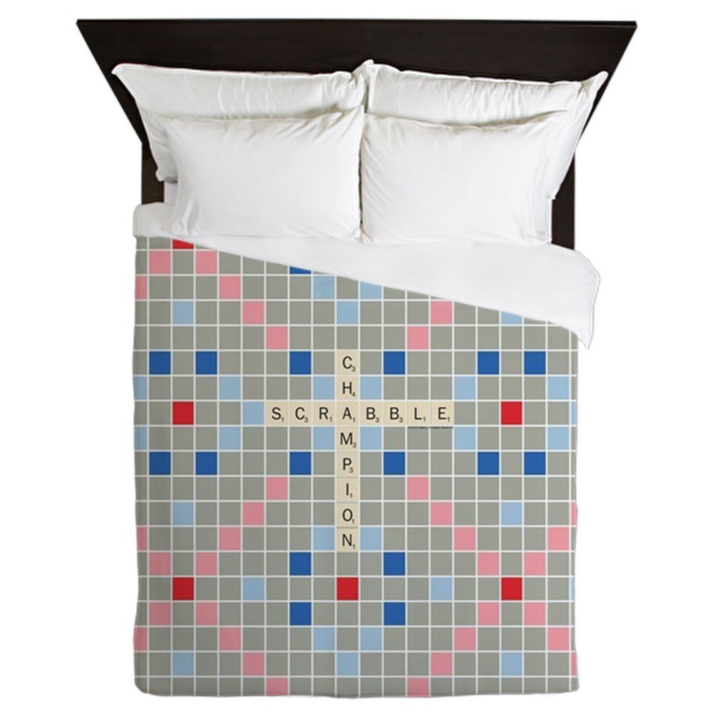 CafePress Scrabble Champion - Queen Duvet Cover, Printed Comforter Cover, Unique Bedding, Microfiber