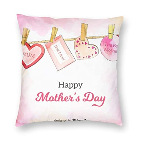 Myhou Juego de Fundas de cojín para el día de la Madre, de ...