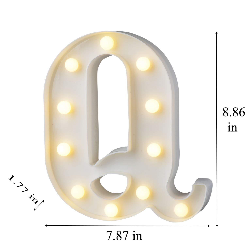 HIYT LED Alphabet Letter Lights Letter X Decorative Warm Plastic Light up Letters