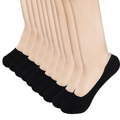 ee188b92ce8 Habi Lot de 5 paires Chaussettes Invisibles Respirantes en Coton Chaussettes  d été Courtes Ultra