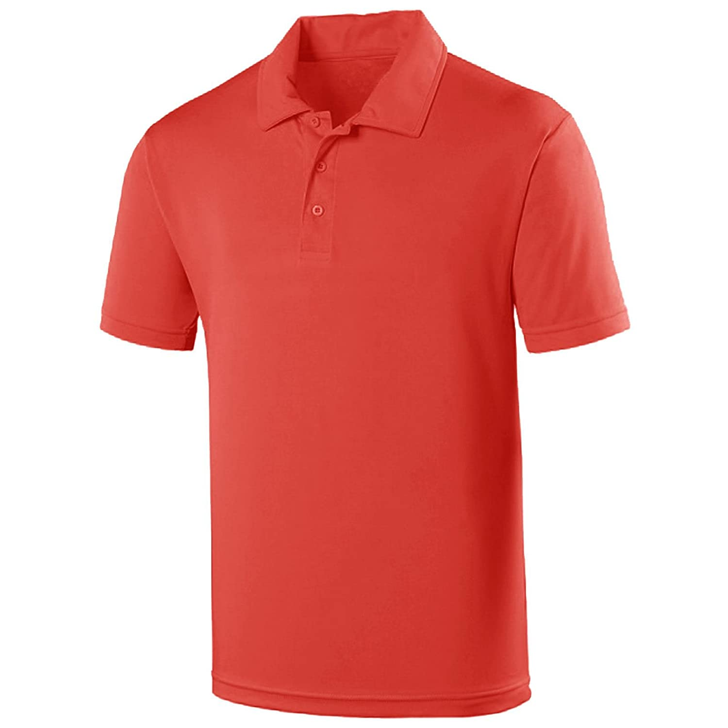 Kids Polo T-Shirts Fruit of The Loom Boys Girls Collared PE School Uniform Tops Quality Mode