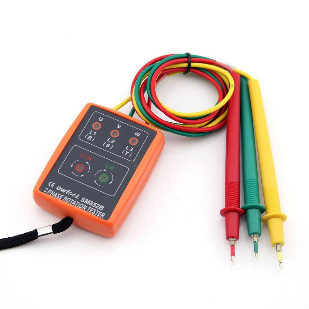 SAMPO 3 Phase Sequence Presence Rotation Tester Phase Indicator 60V~600V AC by Sampo