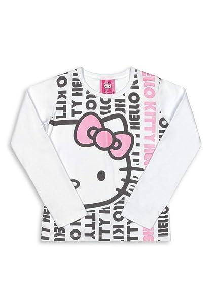 e4917c621e Blusa Infantil Manga Longa Cotton Hello Kitty  Amazon.com.br  Amazon ...