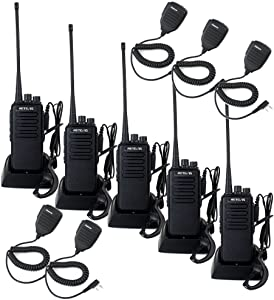 Retevis RT1 2 Way Radios Walkie Talkies Long Range High Power Two Way Radios Adults with Earpiece Mic Hands Free 3000mAh Battery(5 Pack)