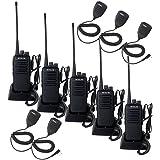 Retevis RT1 10W UHF Two Way Radio 70CM 400-520 MHz 16CH VOX Scrambler Ham radio and Speaker Mic (5 Pack)