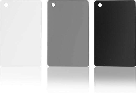 Nikon 18/% Wei/ßabgleich f/ür Canon 3-in-1 Graukarten f/ür digitale Spiegelreflexkameras und Film-Belichtung Farbkalibrierung Sony Messkarte Set