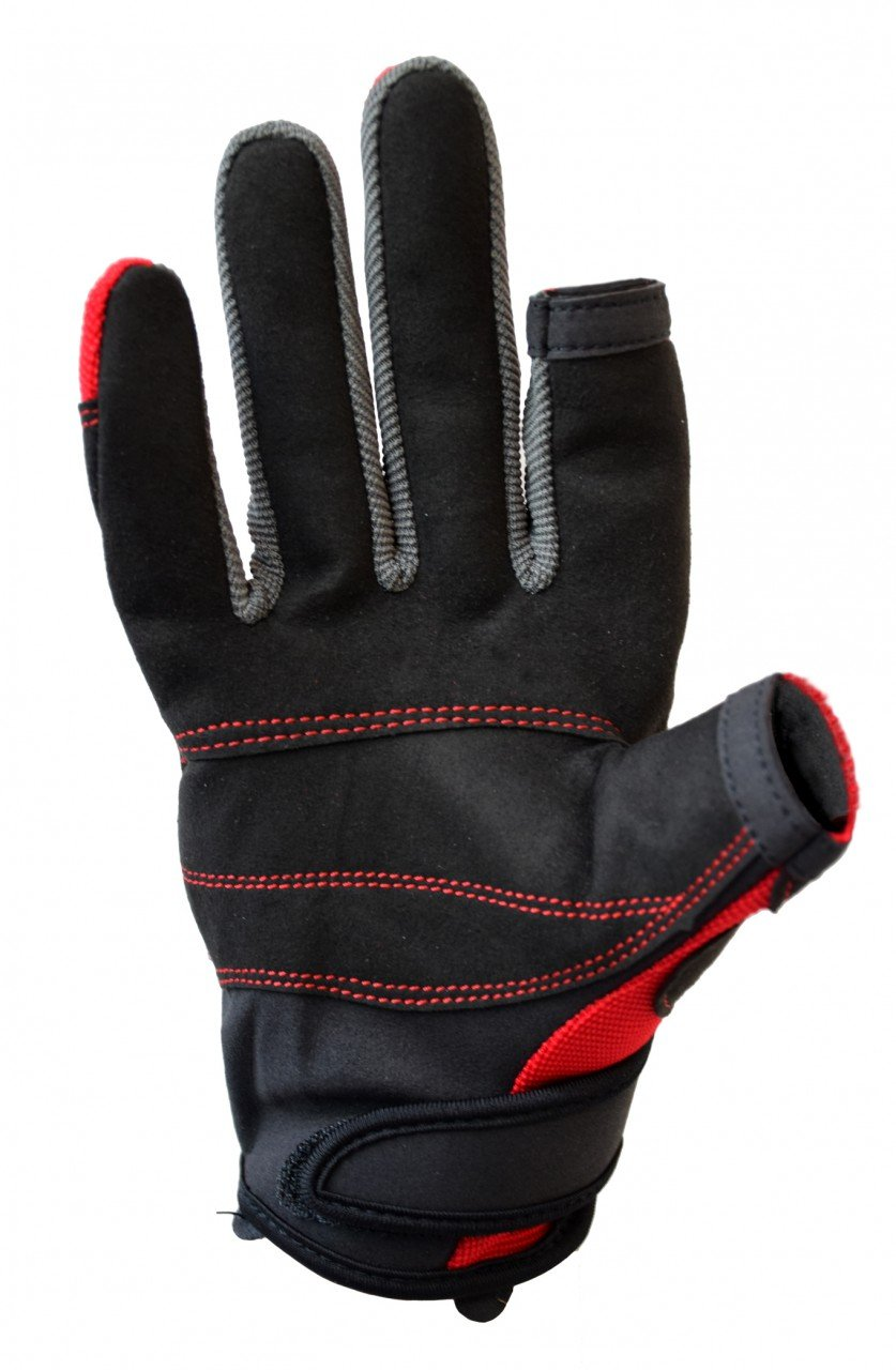 Musto Essential Sailing Long Finger Gloves in Red AS0803