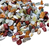 Yarssir Natural Pebble Fish Tank Landscape Bottom Sand Colored Stones for Potted Turtles Aquarium Decorations - 2 lb (colors)