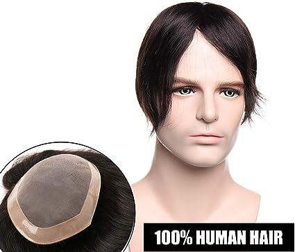 Elailite® Protesis Para Hombre Capilares Indetectable Pelo Natural ...