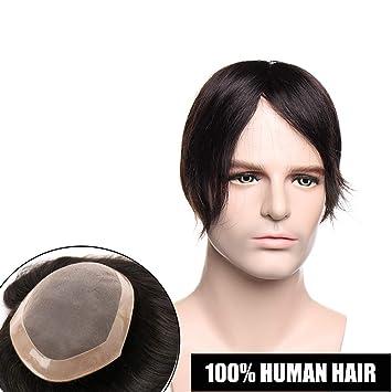 Toupee Hombre Cabello Humano 6