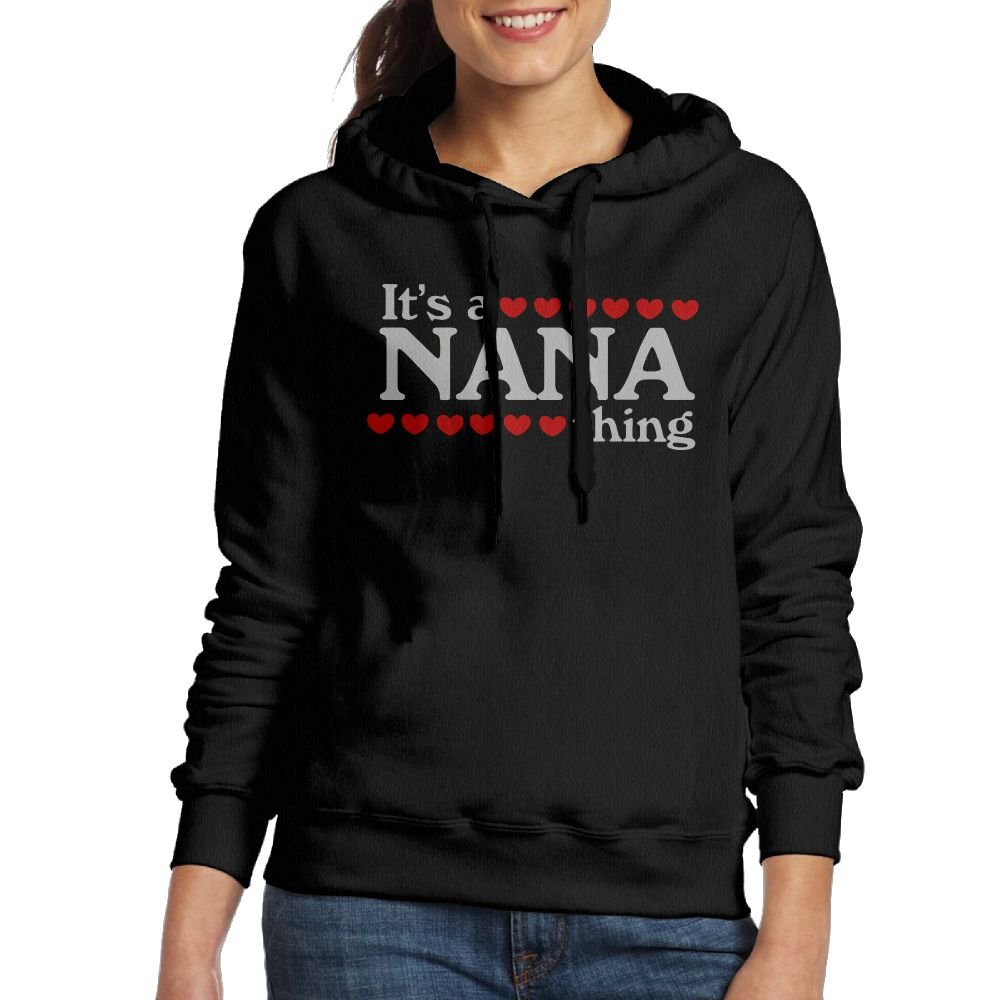Wxf Women It's A Nana Thing Casual Style Jogging Black Fleece XL