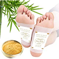 Foot Pads - (60Pads) Ginger Foot Patch for Better Sleep and Anti-Stress Relief, Pure Natural Bamboo Vinegar and Ginger…