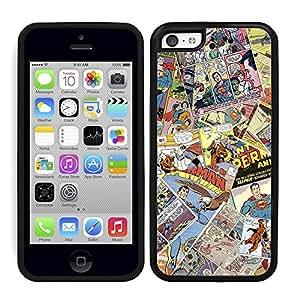 Funda carcasa TPU (Gel) para Apple iPhone 5C diseño cómic 3 borde negro