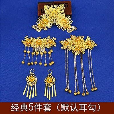 XPY&DGX Accessoires De Cheveux De Mariée En Épingle À Cheveux De Mariage,Costume de mariée chinoise tiare phoenix spectacle kimono cheongsam accessoires rétro palais bijoux de mariage ro