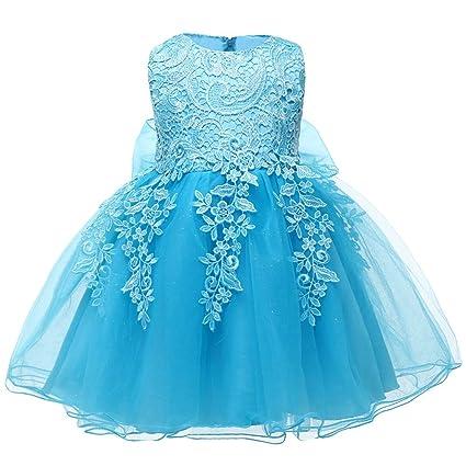 31d4bfa75b8da Amazon.com: NOMSOCR Kids Lace Floral Costume Tutu Dress Girl Pageant ...
