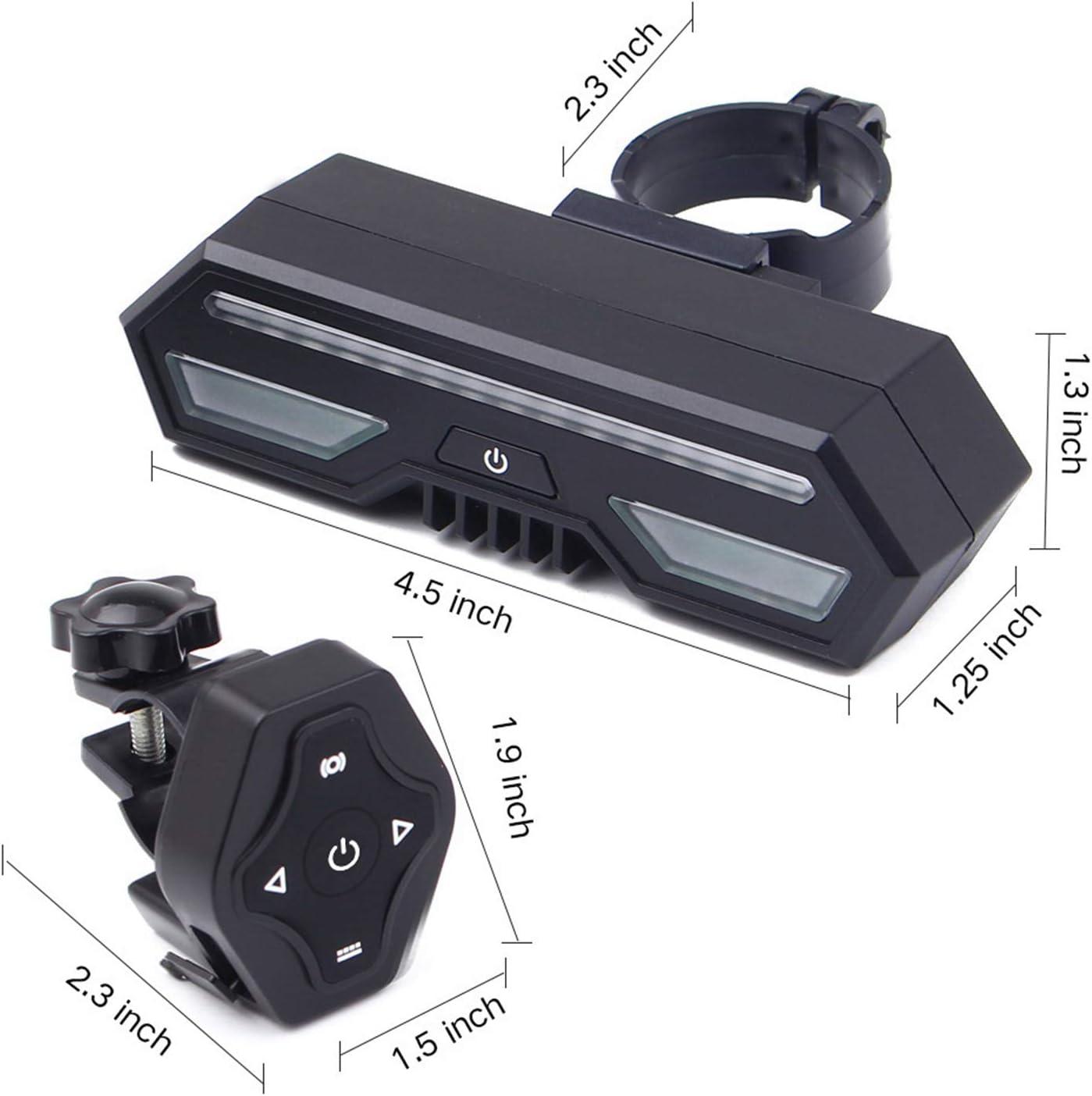 LED /étanche IP66 Lumi/ère pour VTT V/élo de Route Zeroall Feu Arri/ère de V/élo Intelligents USB Rechargeable Induction de Freinage Eclairage Arri/ère de V/élo avec 4 Modes D/éclairage