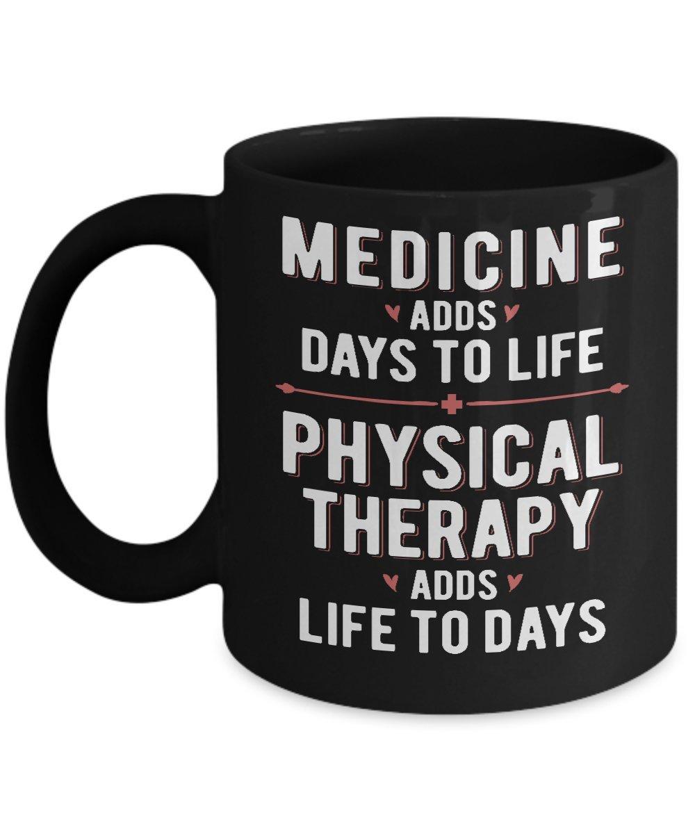 物理療法adds life to日ホームオフィスコーヒーMug Cup 11oz ブラック 11oz ブラック B0719R4SQK