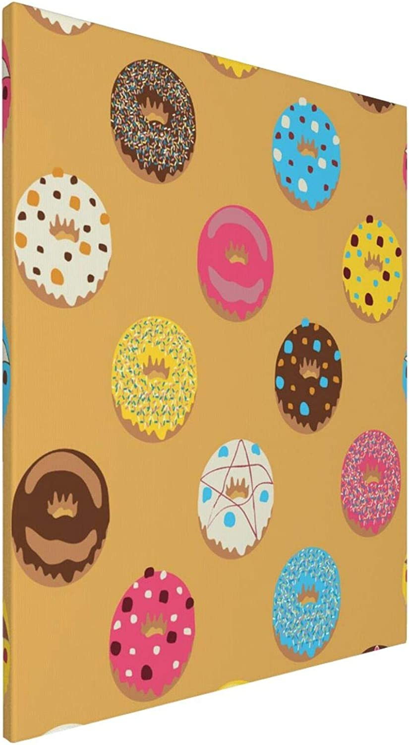 Chocolate Donuts Cartoon Cute Funny Food Painting on Canvas Lover Rain Street Tree Lamp Texture Palette Knife Abstract Landscape Art Paintings Canvas Wall Art Modern House