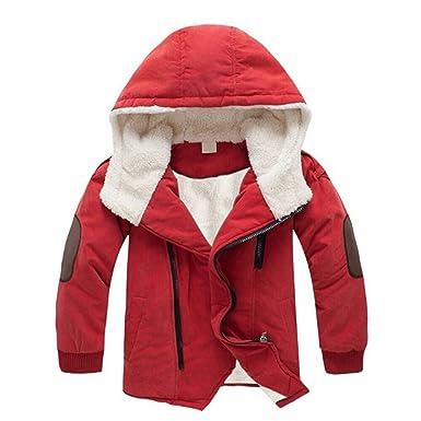 218555e9096a0 GX GLOBAL 子ども ジャケット コート 裏ボア 男の子 防寒 フード付き アウター 子供服 裏起毛