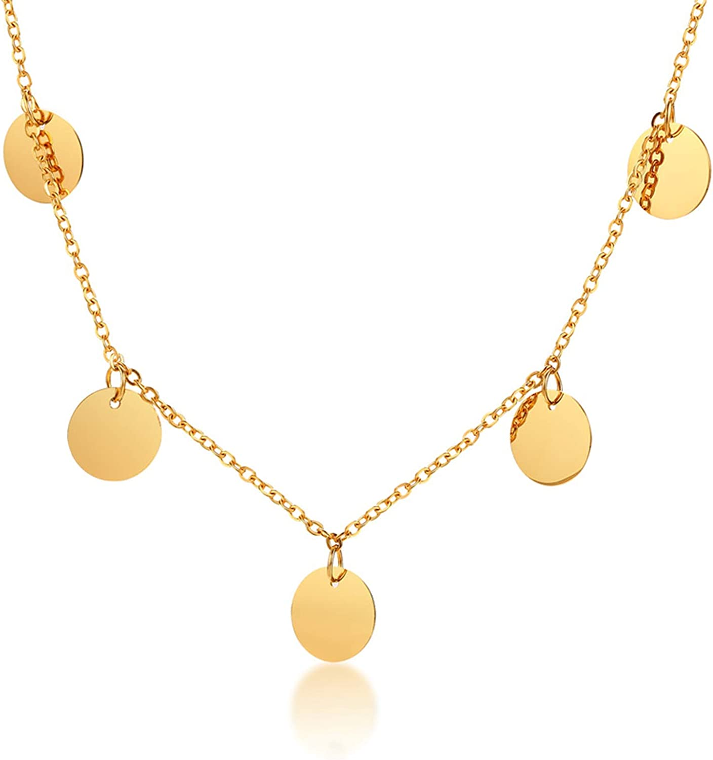 Amazon Com Aokarry Gold Necklace Womens Stainless Steel Necklace