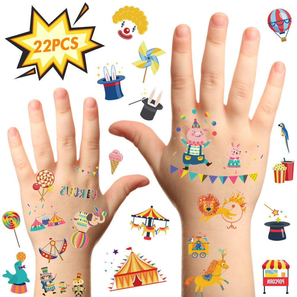 222 PICES OF KID'S CARNIVAL STICKERS