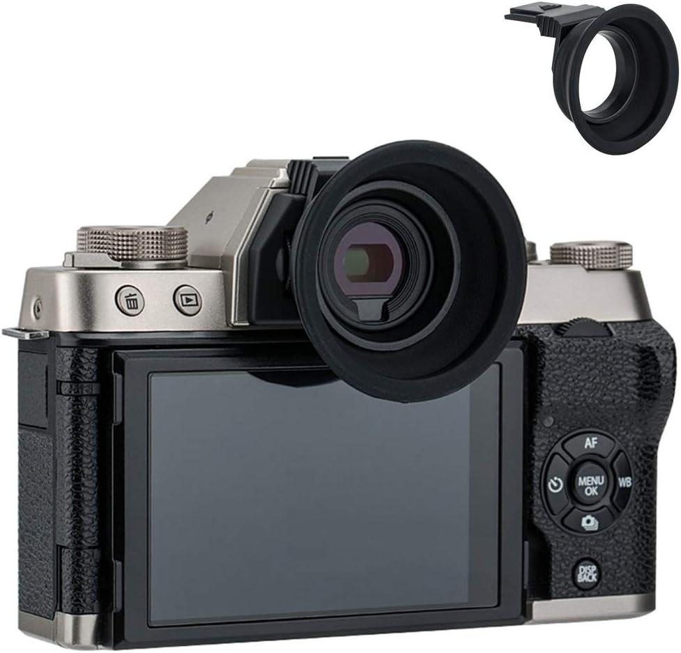 Soft Silicon Camera Viewfinder Eyecup Eyepiece Eyeshade for Fujifilm Fuji X-T200 XT200 X-T100 XT100 Mirrorless Camera Eye Cup Protector Accessory (Installation via Hot Shoe Mount)