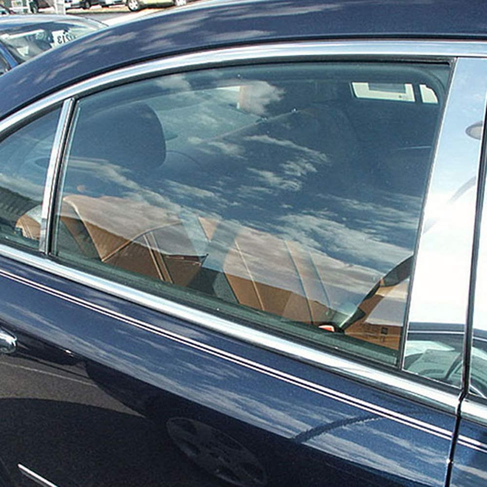 Made in USA Works with 2007-2009 Saturn Aura 8PC Stainless Steel Chrome Pillar Post Trim