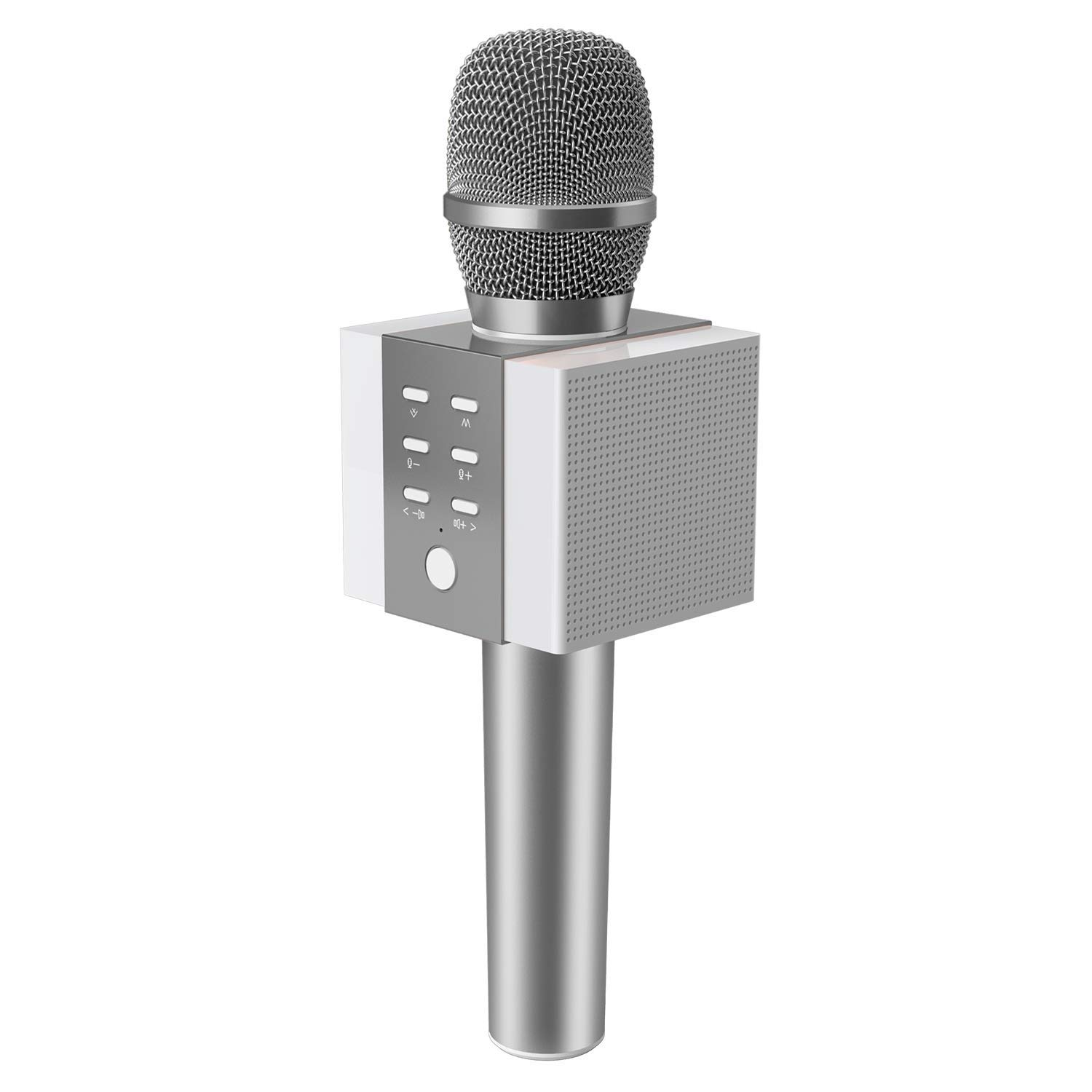 OPcFKV 3-in-1 Handheld Karaoke Microphone,Large Sound Volume 10W Power, More Bass Dual Speaker Microphone Suitable for iPhone Android Smartphone Or PC, Karaoke Microphone by OPcFKV