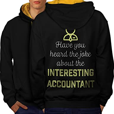 6becf8a785 wellcoda Joke About Accountant Mens Contrast Hoodie, Funny Print on The  Back at Amazon Men's Clothing store: