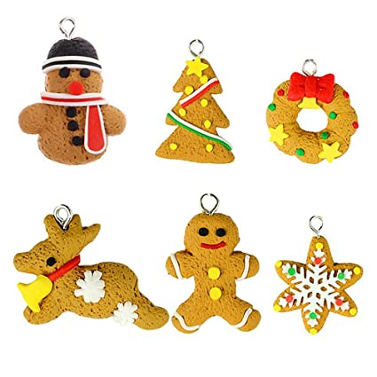 Polymer Clay Christmas Tree Decorations.Amazon Com Oulii Handmade Cute Cartoon Gingerbread