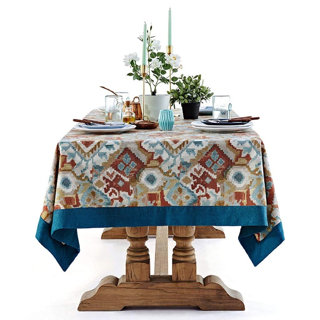 テーブルカバーエキゾチックなフォークカスタム長方形テーブルクロス茶テーブルクロス (Color : Multi-colored, Size : 130×180cm) 130×180cm Multi-colored B07SNPKJSG