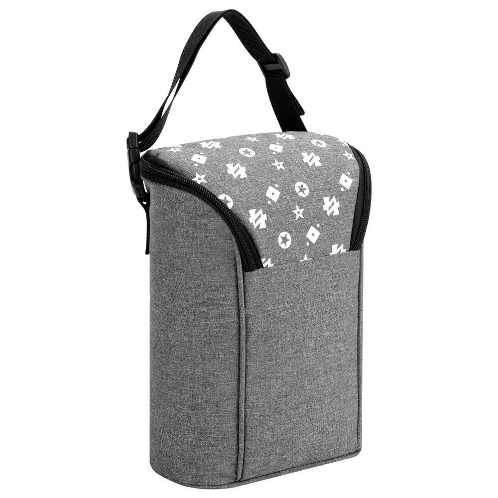 grau k/ühlere oder w/ärmende Thermotasche f/ür Muttermilch und Babynahrung Isolierte Tasche f/ür Babyflaschen