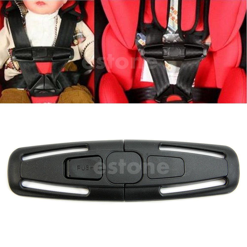 Amazon Chunshop Baby Safety Car Seat Strap Child Toddler Chest Harness Clip Safe Buckle Black