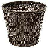 Expressly HUBERT Round Dark Brown Plastic Floor Display Basket - 18''L x 20''H