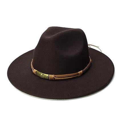 e4ebacccf760 SCSY-Sombrero Nuevas Mujeres Hombres Lana Vintage Gangster Trilby ...