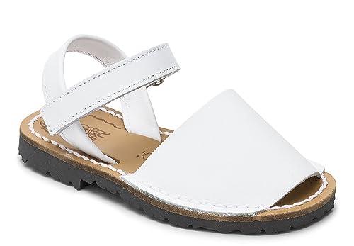 5bbe340a1 Sandalias Menorquinas NIÑA Velcro Blanca  Amazon.es  Zapatos y complementos