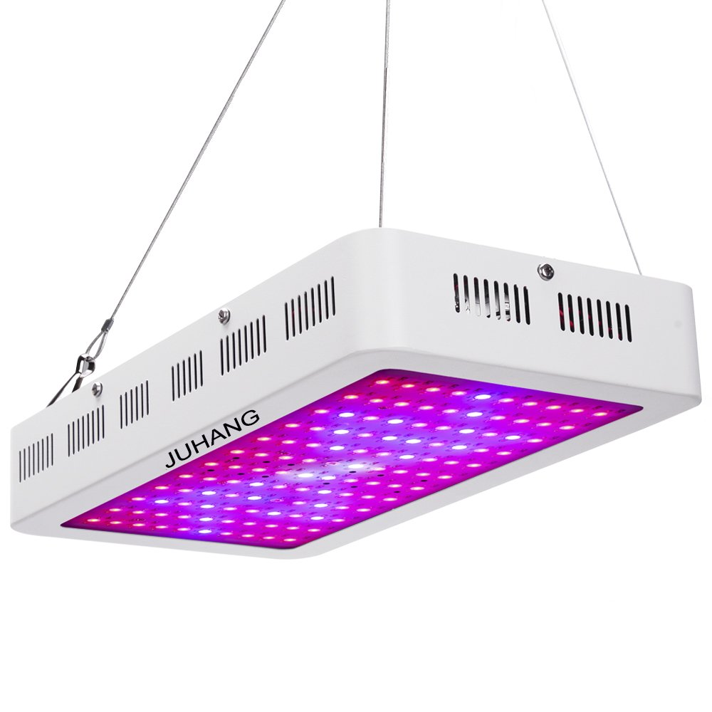 1200W Super Bright Full Spectrum LED Grow Light for Indoor Plants and Flower Garden Greenhouse Hydroponic Plant Grow Lights with Zener Protector by JUHANG
