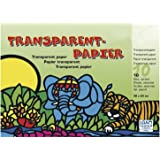 Rayher Hobby 81005000Papier transparent, 10couleurs, 20x 30cm, 42g/m2, bloc 1